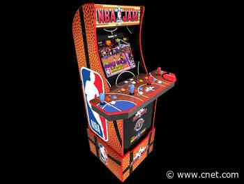 Arcade1Up NBA Jam Live cabinet adds online multiplayer to retro gaming lineup     - CNET