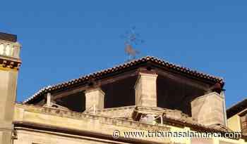 La veleta de la iglesia de San Martín luce (un poco) más derecha después de una década - Tribuna de Salamanca