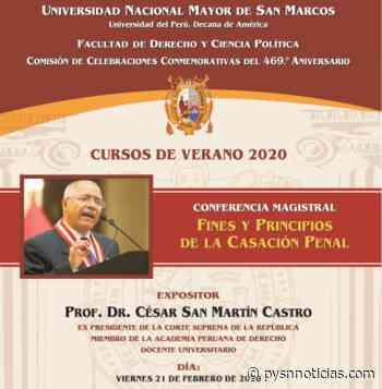 Dr. César San Martín dicta mañana conferencia magistral en Facultad de Derecho de San Marcos - Pysn Pueblo y Sociedad Noticias