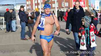 Speedo Mick finishes 1,000-mile walk in his swimming trunks at Land's End