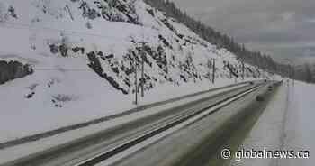 Environment Canada issues snowfall warning for Coquihalla, Highway 3