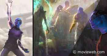 Nebula Wields the Infinity Gauntlet in Avengers: Endgame Concept Art