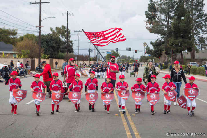 Play ball! But first, a parade, for kids in West Garden Grove Youth Baseball