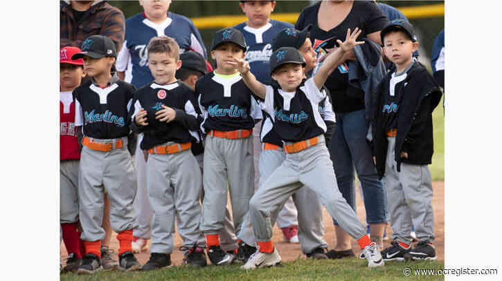Young ballplayers swing for the fences