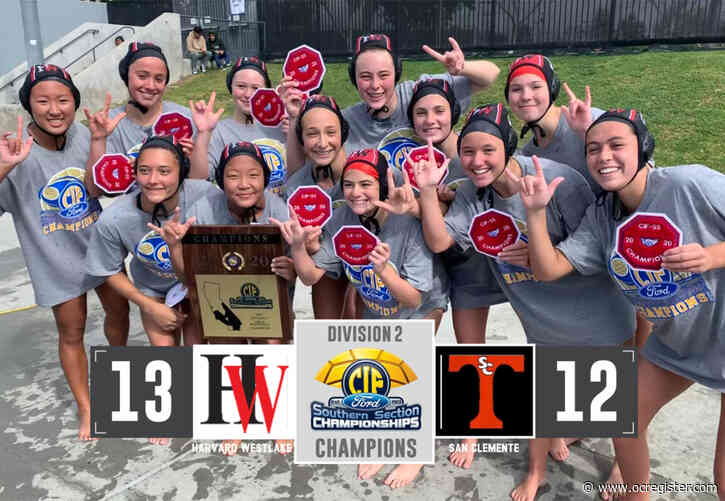 Late strike lifts Harvard-Westlake girls water polo past San Clemente in CIF-SS Division 2 final
