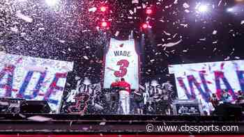 LeBron James congratulates Dwyane Wade on his jersey retirement as Heat celebrate the NBA legend all weekend