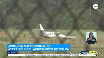 Ocupantes de aeronave resultan ilesos tras percance en Colón - TVN Panamá
