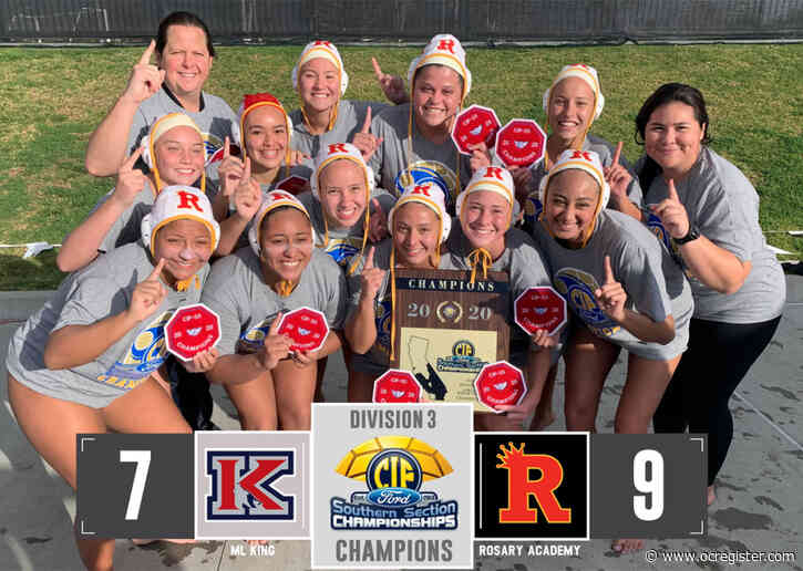 Rosary girls water polo knocks off M.L. King for first CIF-SS title since 1999