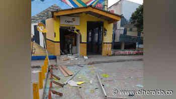 Explosivo destruye cajero al lado de la Iglesia en Morroa, Sucre - El Heraldo (Colombia)