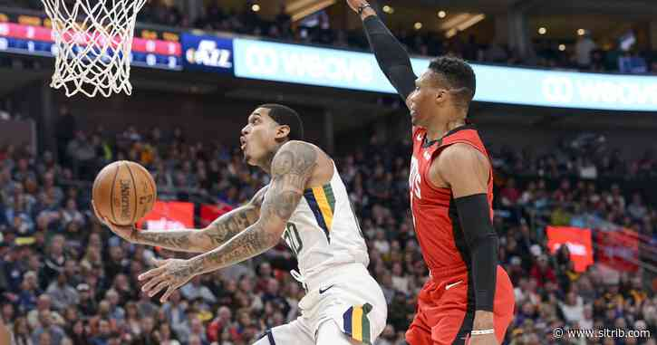Rockets hand lethargic Jazz second loss in a row, 120-110