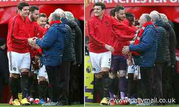 Man Utd invite 11 guests of honour over the age of 60 to welcome players onto the pitch