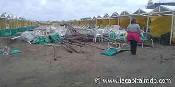 El intenso viento arrasó Punta Mogotes y causó destrozos en algunos balnearios - La Capital de Mar del Plata