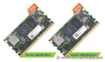 Toradex Launches New Verdin Arm SoM Family Starting with iMX8M Mini/Nano Modules - CNX Software