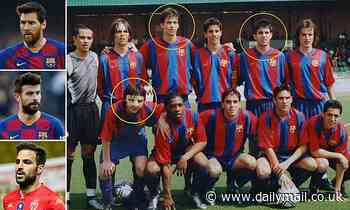 Messi, Pique and Fabregas were among star-studded Barcelona Under 15s team - where are they now?