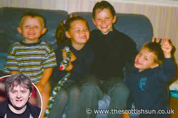 Young Lewis Capaldi flashes trademark cheeky grin in adorable family throwback picture - The Scottish Sun