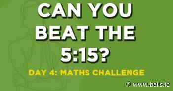 Beat The 5:15 - Solve This Sports Maths Challenge - Balls.ie