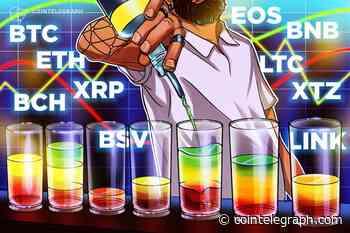 Price Analysis Feb 21: BTC, ETH, XRP, BCH, BSV, LTC, EOS, BNB, XTZ, LINK - Cointelegraph