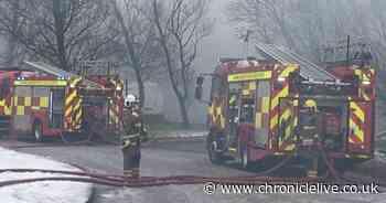 Firefighters tackling large blaze at industrial estate in Peterlee