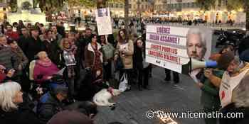 Manifestation de soutien au lanceur d'alerte Julian Assange à Nice