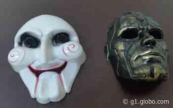 Adolescentes com máscaras são detidos após tentarem roubar moto em Barrinha, SP - G1