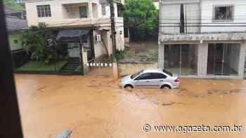 Chuva intensa deixa ruas alagadas e sem calçamento em Mimoso do Sul - A Gazeta ES