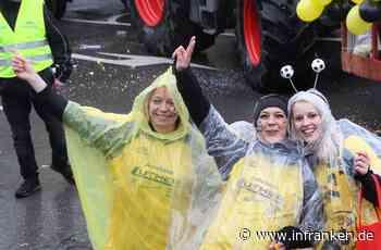 Seßlachs Narren feiern im Regen