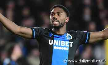 Club Brugge star man Emmanuel Dennis ruled out of Man United second leg