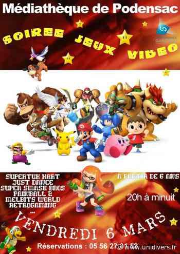 Soirée jeux vidéo Podensac, 6 mars 2020 - Unidivers