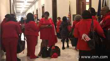Dressed in red, Delta Sigma Theta sorority members blanket Capitol Hill - CNN