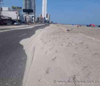 Dunas de arena se toman la avenida Santander - El Universal - Colombia