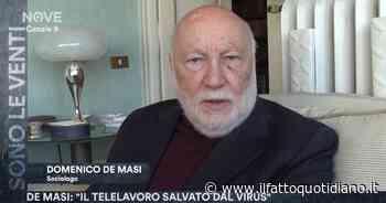 Coronavirus, a Milano le aziende propongono il telelavoro. Il sociologo De Masi a Sono le Venti (Nove):… - Il Fatto Quotidiano