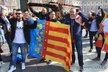 In quarantena tre tifosi del Valencia rientrati da Milano - Agenzia ANSA