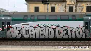 """Coronavirus, continua la """"saga"""" dei graffiti a tema sui treni a Milano: """"Ve l'avevo detto"""". Foto - MilanoToday"""