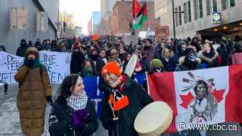 Wet'suwet'en solidarity protesters march through streets of Montreal