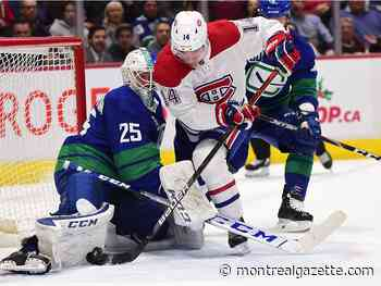 Liveblog: Habs lead 2-1 on Canucks after 20 minutes of play