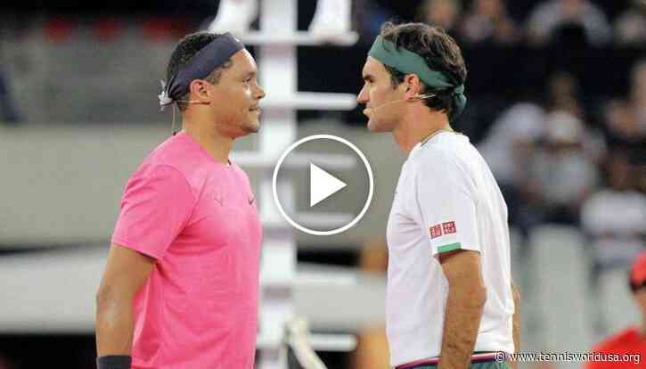 Trevor Noah Talks on Training for Exhibition Match with Roger Federer e Rafael Nadal