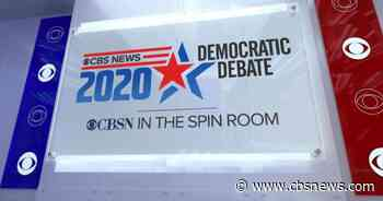 Democratic candidates reflect on debate performance in visit to CBS News spin room