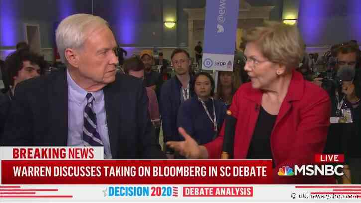 Chris Matthews Confronts Warren: Why Do You Believe a Woman Over Bloomberg?