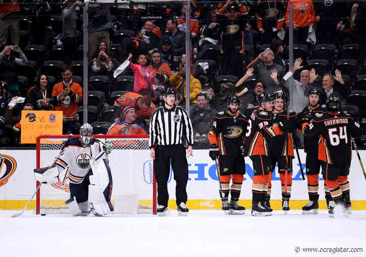 Sonny Milano scores twice in his Ducks' debut, including the OT winner