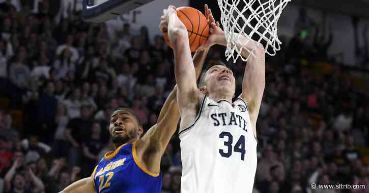 Utah State pummels San Jose State 94-56 in final home game of the season