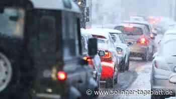 Schneefall sorgt für Probleme auf Solinger Straßen