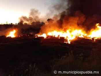 Vecinos sofocan incendio en Acajete - Municipios Puebla