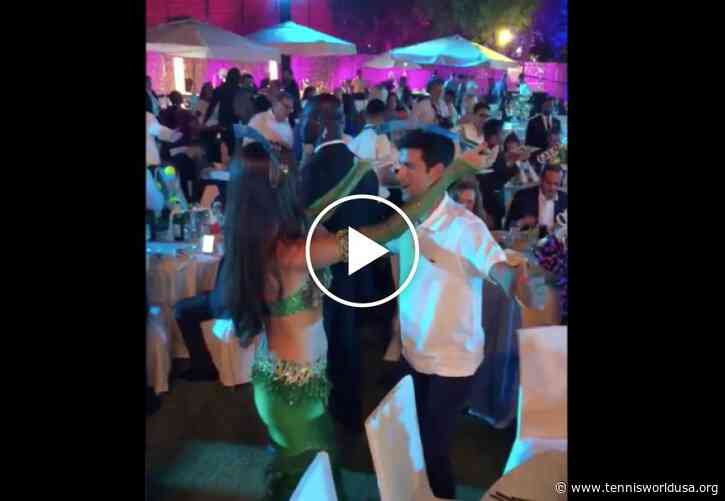 Novak Djokovic played a dance with a sword on his head in Dubai!