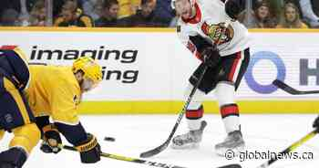 Nashville Predators rally, beat Ottawa 3-2; Bobby Ryan returns to Senators lineup