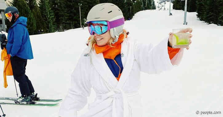 Chelsea Handler Rings in Birthday with Pantsless Ski Session While Holding Margarita & Marijuana