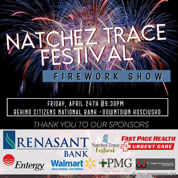 Fireworks show announced for Natchez Trace Festival Family Night