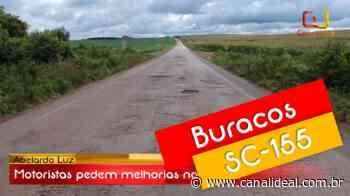 Motoristas pedem melhorias na SC-155 em Abelardo Luz - Canal Ideal