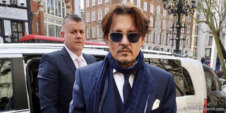 Johnny Depp Arrives to Court for UK Tabloid Libel Lawsuit Regarding Amber Heard Abuse Allegations