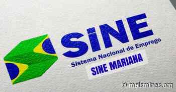 O Sine de Mariana oferece 159 vagas de emprego nesta quinta (27/02) - Mais Minas