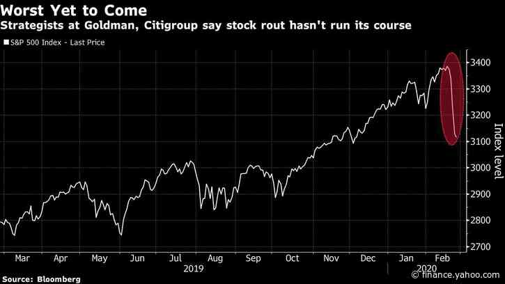 Goldman, Citi Strategists Say S&P 500 Rout Is Bound to Worsen